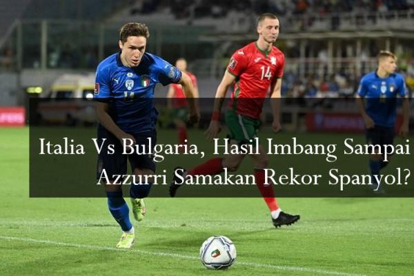 Italia Vs Bulgaria